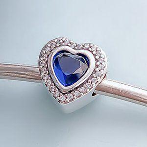 📿Pandora  Sparkling Blue Heart Charm